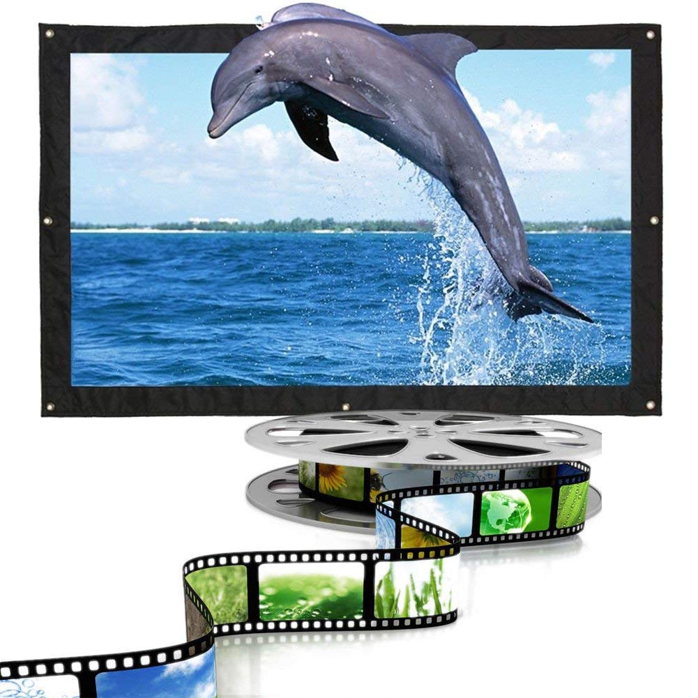 Projection Screen Projector Screen 16:9 Cinema 170 Degrees Home Theater