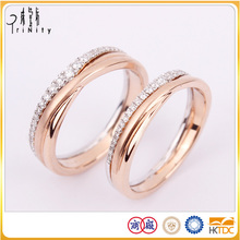 Simple Real Filled Gold Ring With Diamond For Couple in Wholesale Price