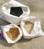 Bulk muslin grain bag for dried food or round bean with opt drawstring