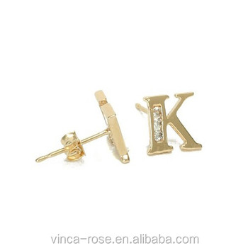 Letter K Meaning King Earring For Men Black Hot In Alibaba Website