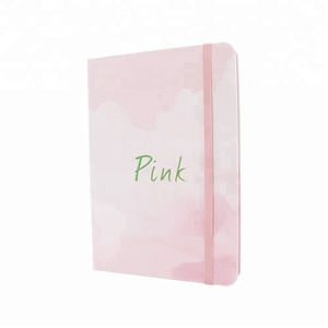 Eco Friendly Journals Custom Printed Sale Pink Notebook With Pen And Gift Box Set