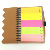 Laminieren matt blank abdeckung hardcover spirale gebunden notebook sublimation notebook mit geformt memo sticky note