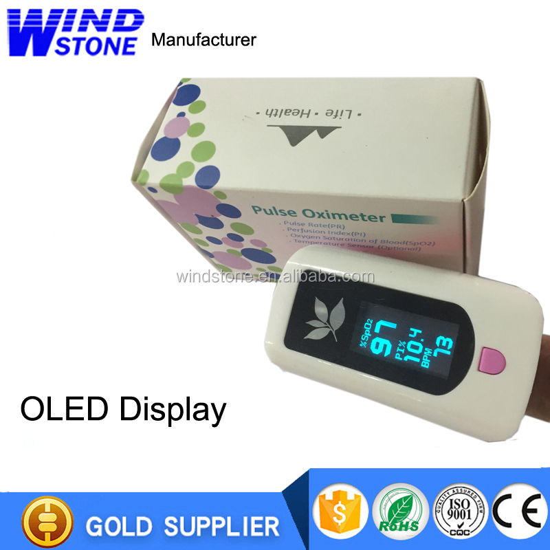 Fingertip Wearable Digital Finger Pulse Oximeter with LCD Screen