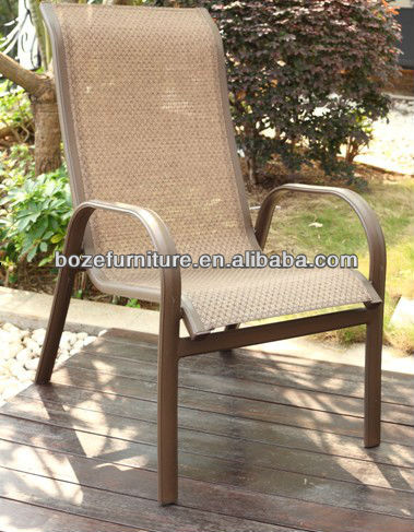 Garden furniture chair aluminum chair patio / hot sale textileen fabric chair stacking outdoor furniture