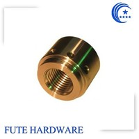 China high precision CNC machine parts with gold plating