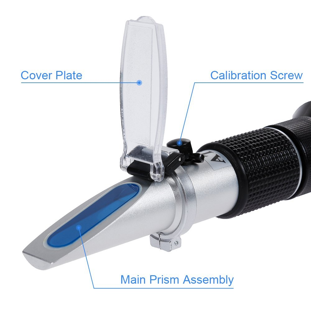 Honey Refractometer, 58-92 % Scale Range Honey Tester with Temperature Compensation