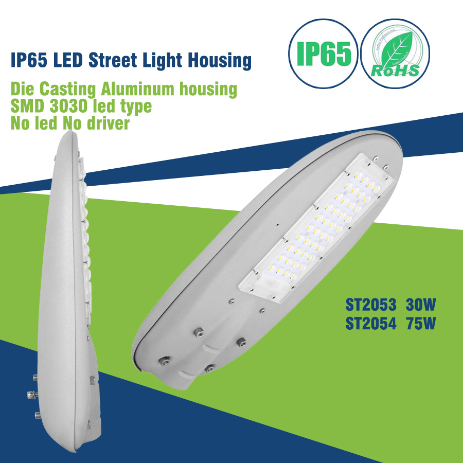 80W Led Street Light Body/Housing Accessories/Led Lamp Housing Empty