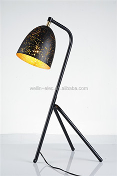 American style Etch shade lampshade standing Iron floor lamp