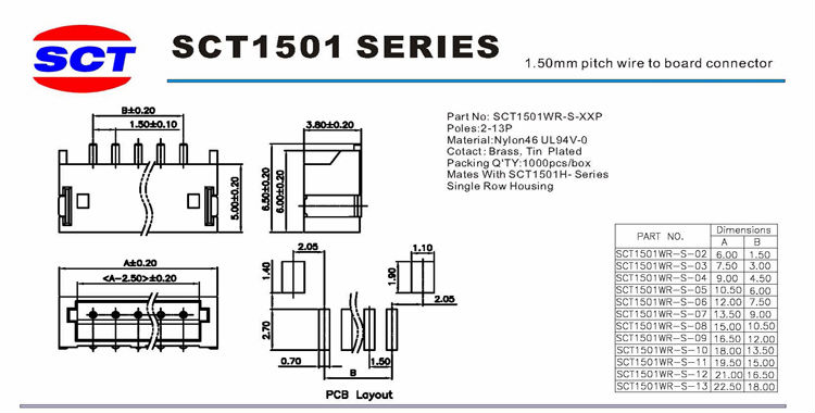 jst zh 3pin connector 1 5mm