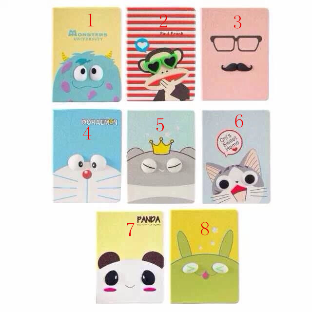 Cute Cartoon Leather Stand Case Cover for iPad 2 3 4 ...