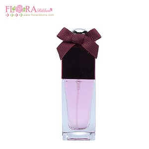 Mini grosgrain ribbon twist bow tie for perfume bottle