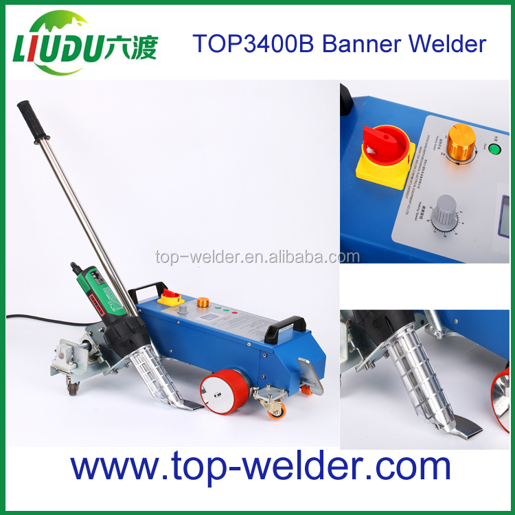 Tarpaulin pvc sheet joint welding hot air seam sealing machine for banner inkjet textile