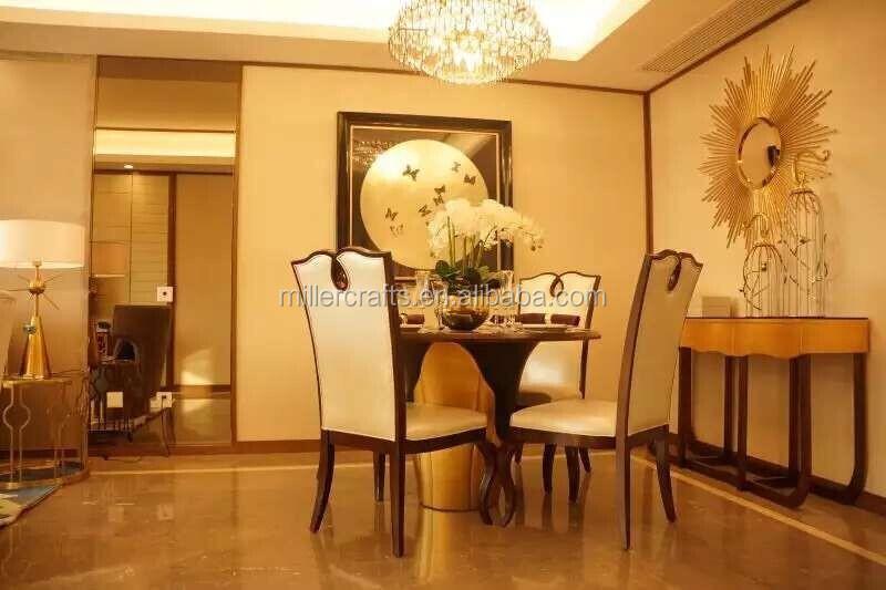 Kamer decoratieve rvs zon vorm frame met bolle deco spiegel moderne