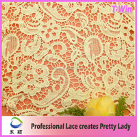 2016 100 Ivory Cotton lace Crochet Lace Fabric For Nigeria Bridal Wedding