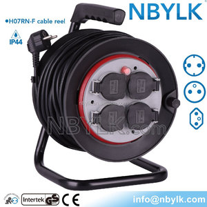 manufacturer extension cord reel industrial cable reel waterproof socket reel with IP44 socket thermal cut out Ergonomic handle