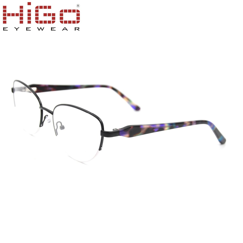 Metal Spectacles for Men Glasses Optical Half Rimless Eyeglass Frame Eyewear