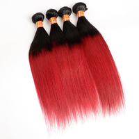 New Products 2016 Virgin Brazilian Hair Straight 1B/Bug Ombre Hair Weaves