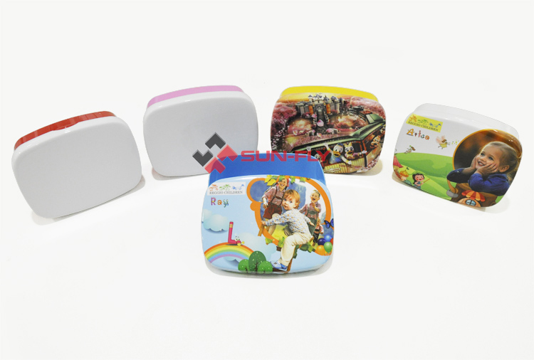 sublimation Plastic Custom printed children lunch box sandwich box