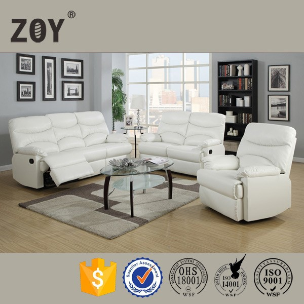 White Leather Recliner Sofa Set, White Leather Recliner Sofa Set ...