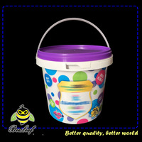1 liter clear food grade paint buckets for kids