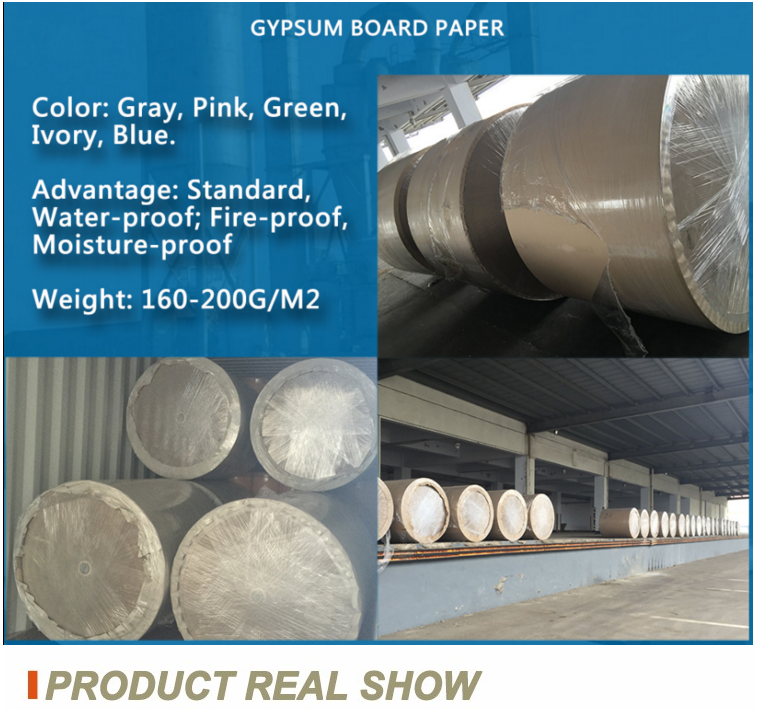 Coated Duplex Board Grey Back Kraft Paper For Gypsum Board