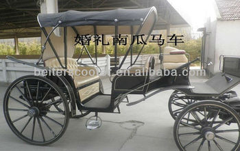 Black Wedding horse Carriage company/manufacture/location