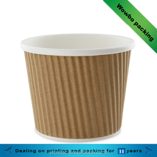 ripple wall custom printed paper ice cream bowls cups