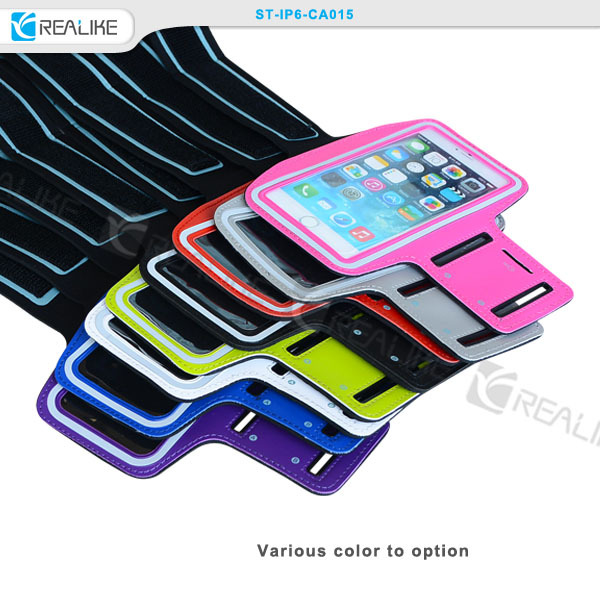 hot selling sport neoprene waterproof arm band assorted colors case for iphone 6