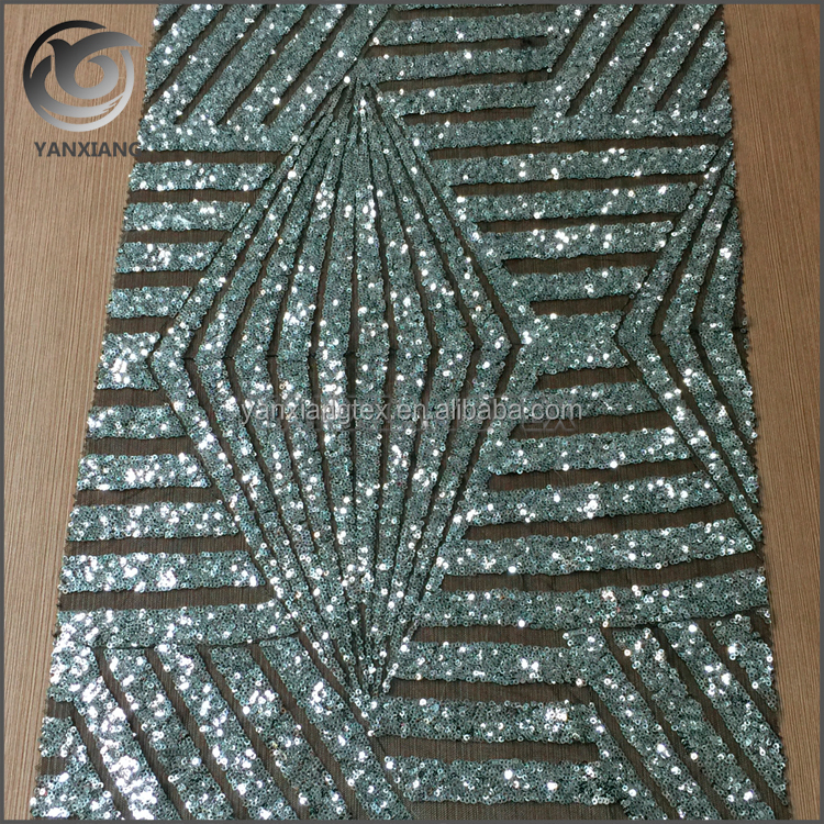 High quality new design full sequin net embroidery fabric