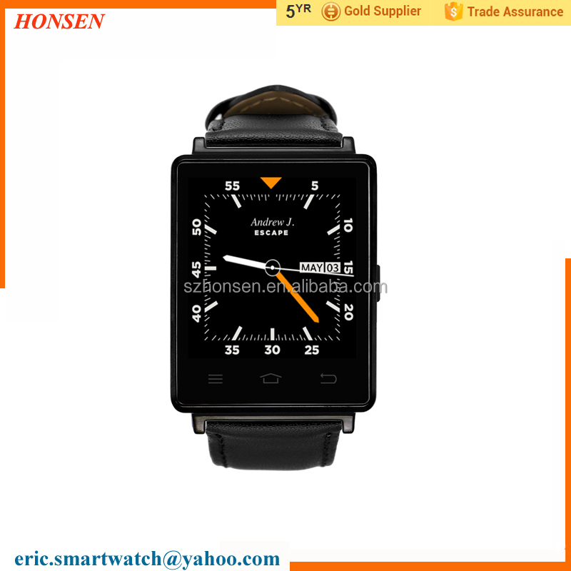Fashion Business Wrist Watch D6 Android 5.1 smart watch 1.63 inch 1GB RAM 8GB ROM MTK6580 support heart rate monitor