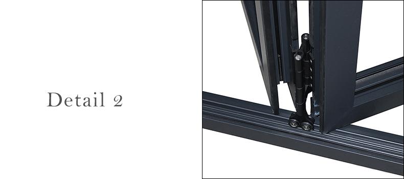 NFRC AS2047 standard cheap internal external 5 panel aluminium bi fold folding folded balcony patio doors