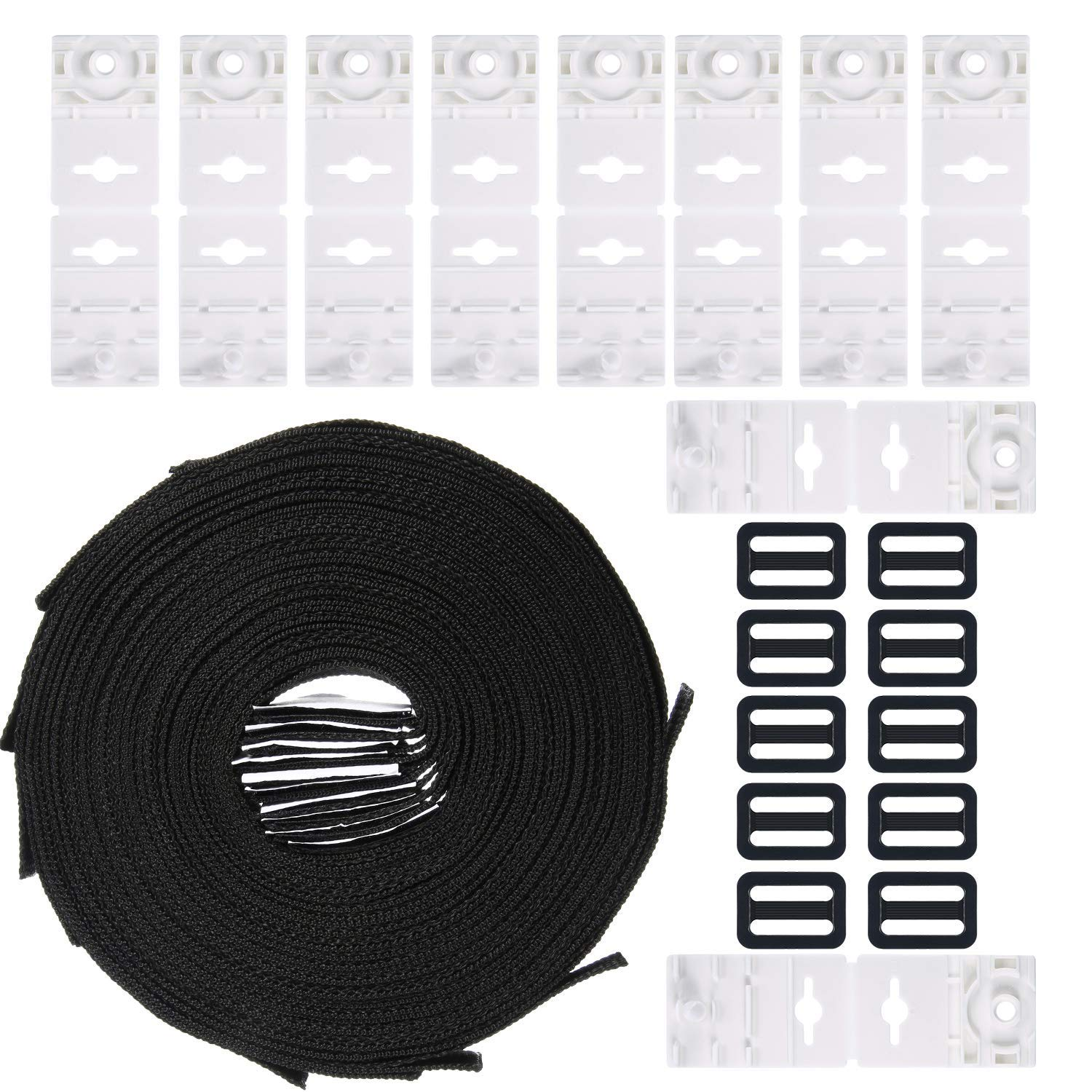 Tatuo Solar Cover Reel Attachment Kit, 10 Each of Pool Solar Cover Reel Straps Buckles and Fastener Plates for in-Ground Swimming Pool