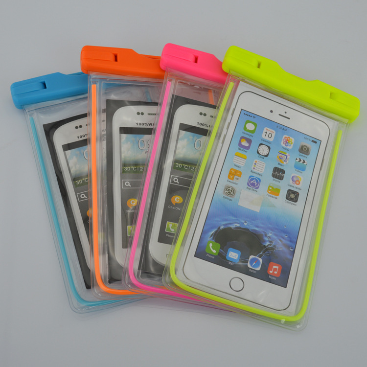 Custom Many Color Hanging Neck Underwater Clear Eco Friendly Pvc Waterproof Cell Phone Bag