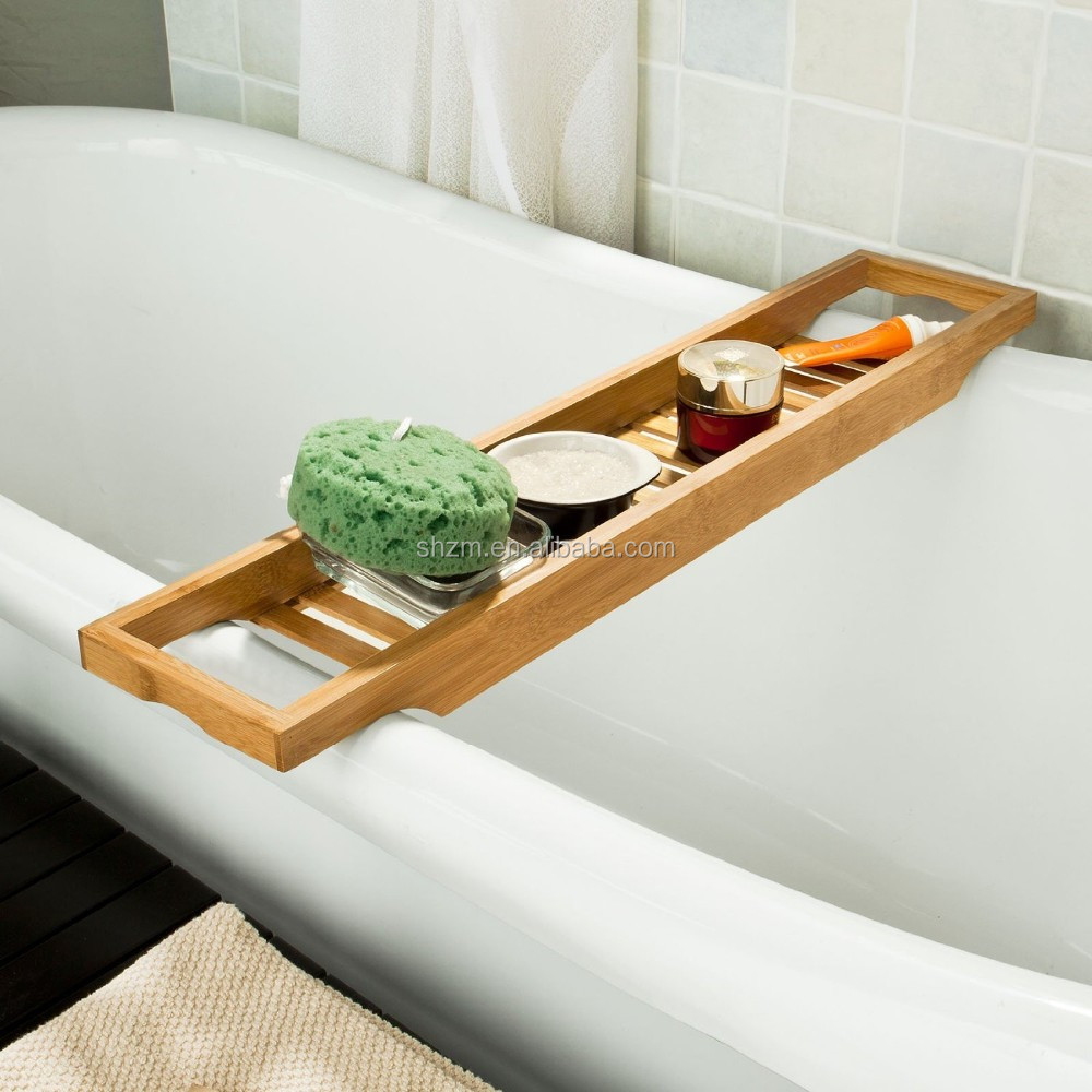 China Supplier Bamboo Bath Shelf High Quality Bamboo Bathtub Caddy ...