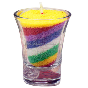 Diy Colored Scented Natural Granulated Sand Wax Candles - Buy ...