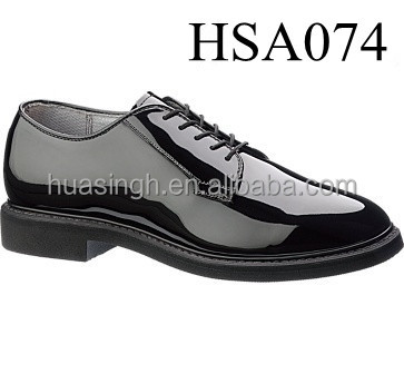 U.S. market popular high gloss black leather Bates brand oxford office shoes