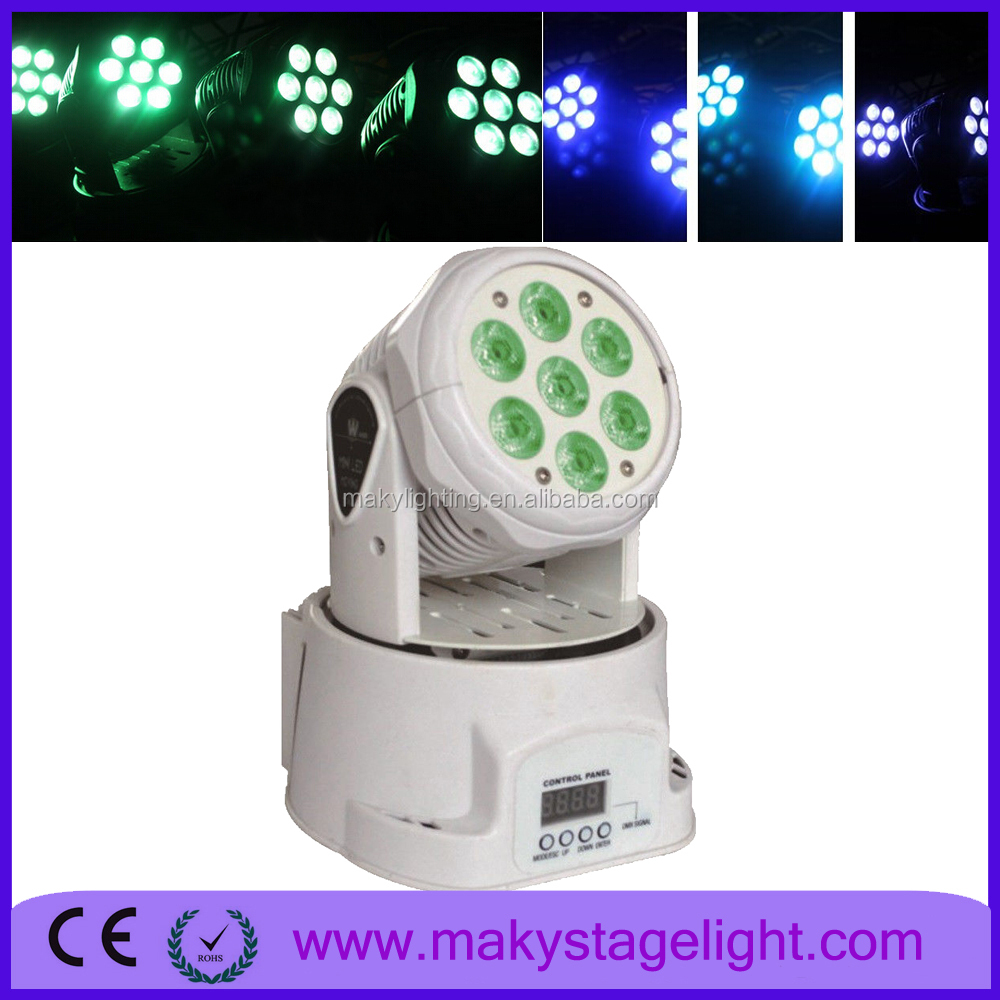 Guangzhou hot sale product stage lighting equipment 7*12w RGBW 4in1 led beam moving head wash