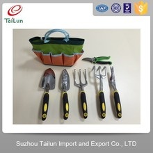 7 PCS Kids Garden Real Tool Set With Bag lightweight garden tools