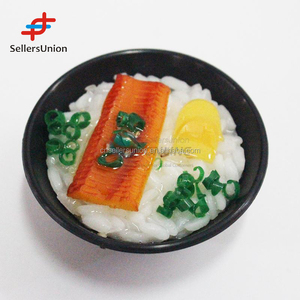 2017 No.1 Yiwu agent hot sale export commission agent Top quality simulation rice with black bowl fridge magnet