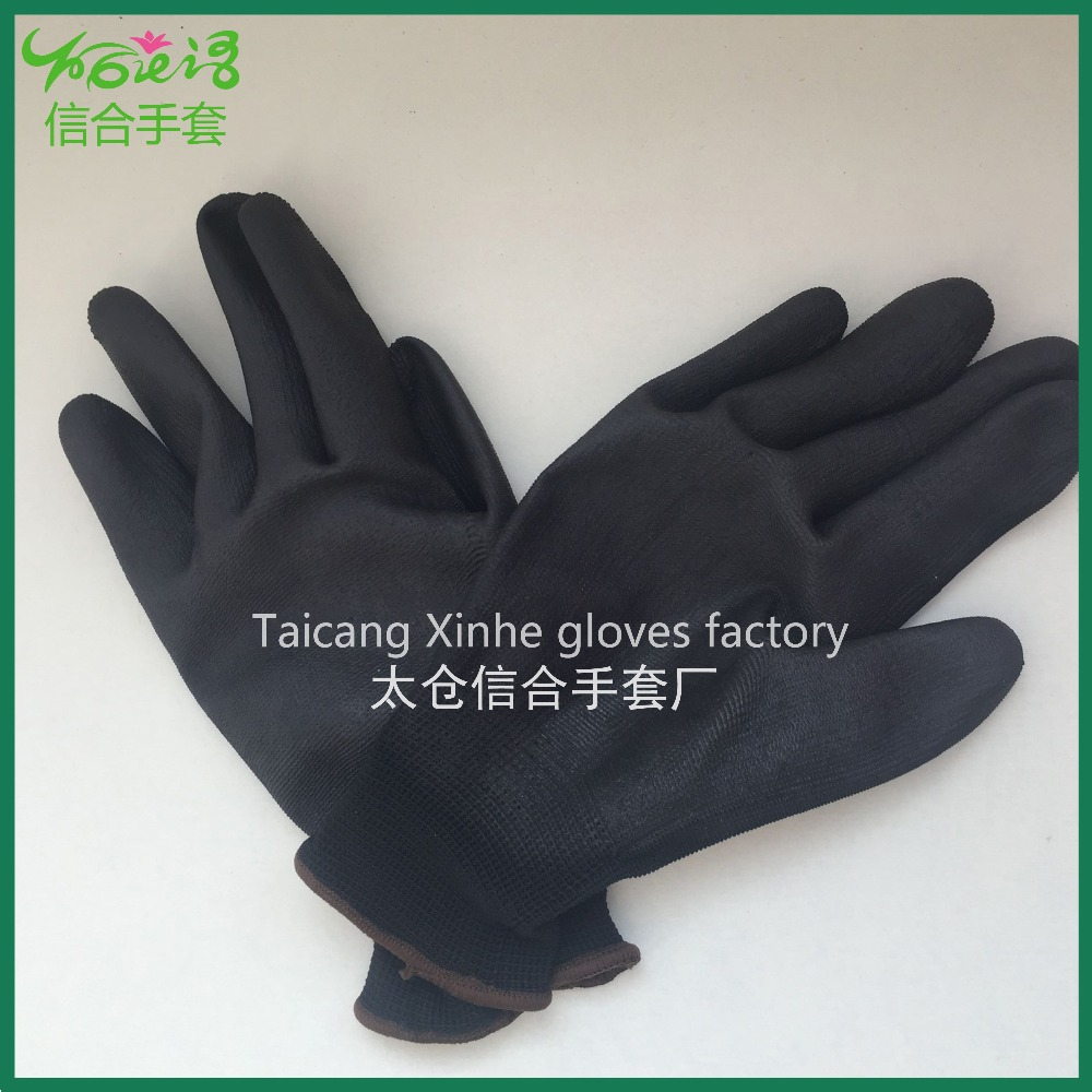 Safety Glove Polyester PU coated Glove ESD PU Anti Static Work Glove