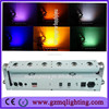 battery operated LED uplighters 6pcs RGBWA 5in1 led approved LED wall pack wash Stage Light