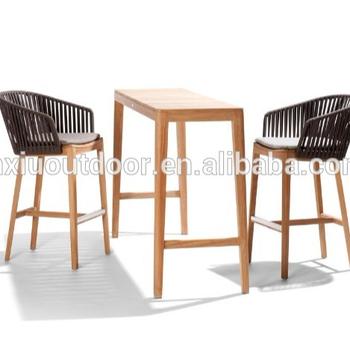 New Teak Wood Outdoor Garden Bar Stool Jx 515 Table Wooden Furniture Product On Alibaba