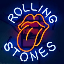 2019 High-end-custom shop dekoration logo display rolling stones neon zeichen