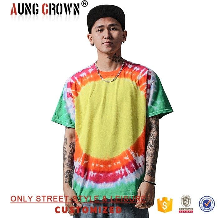 Multicolor All Sizes Clothing Men Fashion Print T Shirt Wholesale 100% Cotton