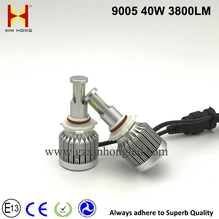 Newest Hot product t5 LED Car Headlight 9005 9006 H1 H4 H7 H11 LED Headlight bulb