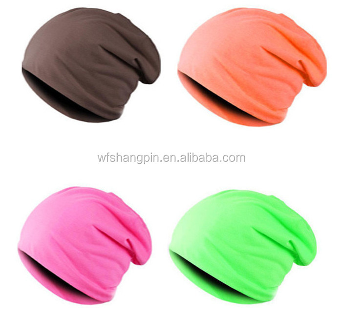 Fashion Men Women Hip Hop Sport Slouch Beanie Cotton Polyester Slouchy Hat