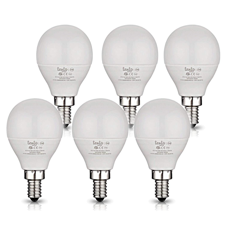 Get Quotations E12 Led Daylight Bulbs Bright White Ceiling Fan Light 5000k 6000k Candelabra Base 40