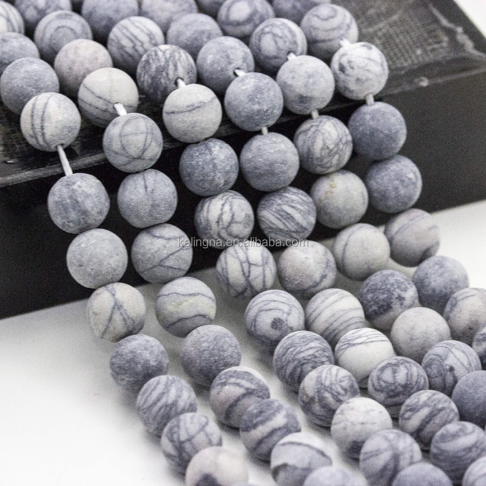 2016 Fashion Matte Wed Jasper Round Gemstone Beads for Jewelry Making