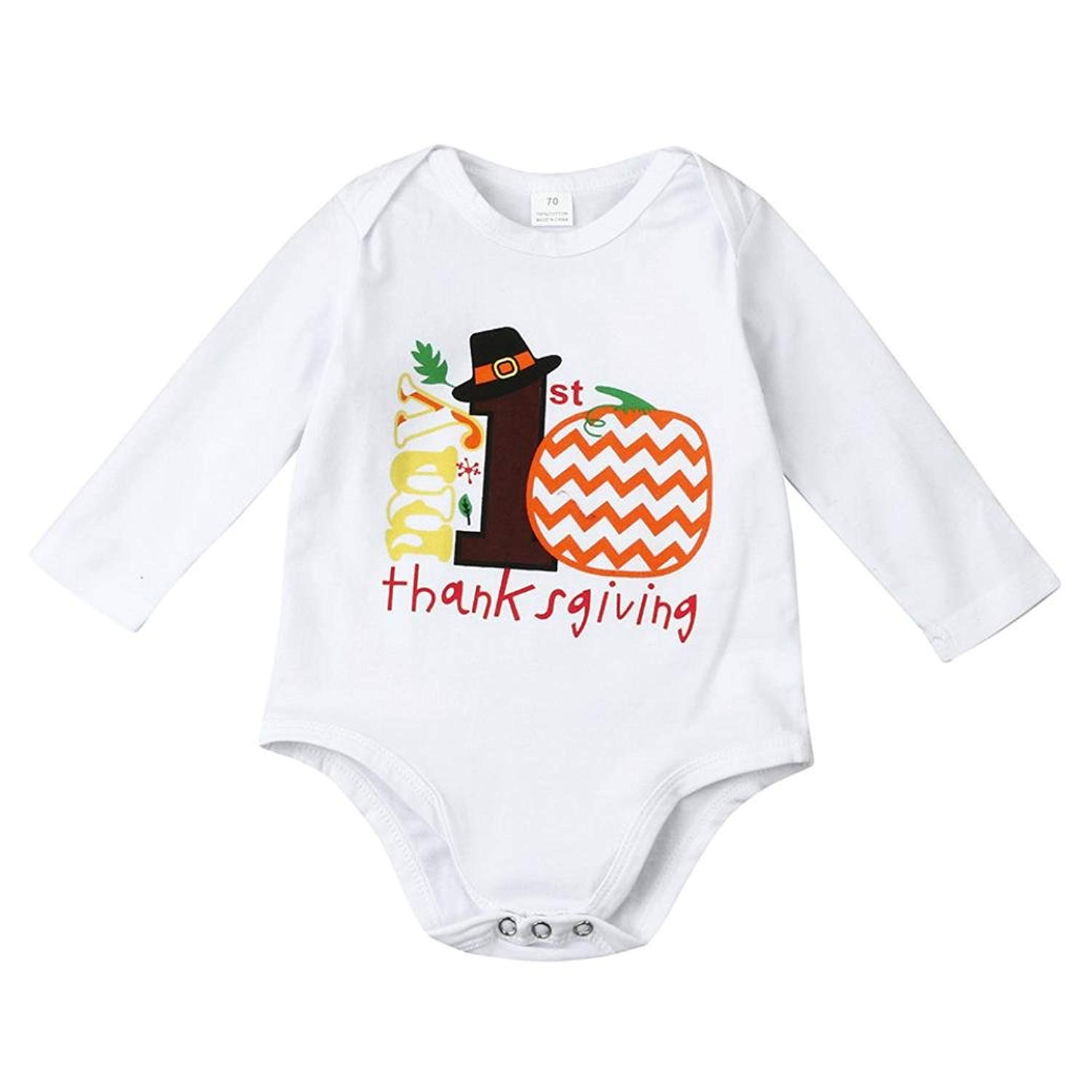 Cat with Christmas Tree Baby Onesie Organic Cotton Funny Soft Baby Long Sleeve Romper