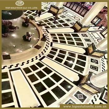 Marble Floor Pattern hotel lobby marble stone inlay flooring design,marble tile round
